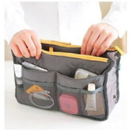 Services for You Handbag Pouch Bag in Bag Organiser Insert Organizer Tidy Travel Cosmetic Pocket (Gray)