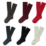 Lian LifeStyle Children 4 Pairs Knee High Wool Socks 3 Sizes 13 Colors