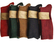 Lovely Annie Women's 6 Pairs Thick Streatcheable Crew Socks(Multicolored)