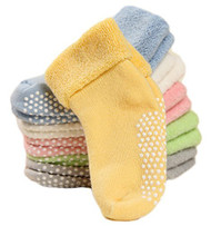 Lovely Annie Unisex Children 6 Pairs Non-Skid Non Slip Cotton Socks 0M-7Y