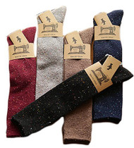 Lian LifeStyle Women's 5 Pairs Pack Knee High Crew Cotton Socks Size(5 Color)