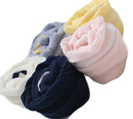Lian LifeStyle Baby Girl Toddler 4 Pairs Combed Cotton Over-the-Knee High Socks Size 0Y-3Y Multi Color