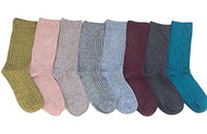 Lian LifeStyle Women's 8 Pairs Cotton Crew Socks Striped Size 6-9(8 Color)