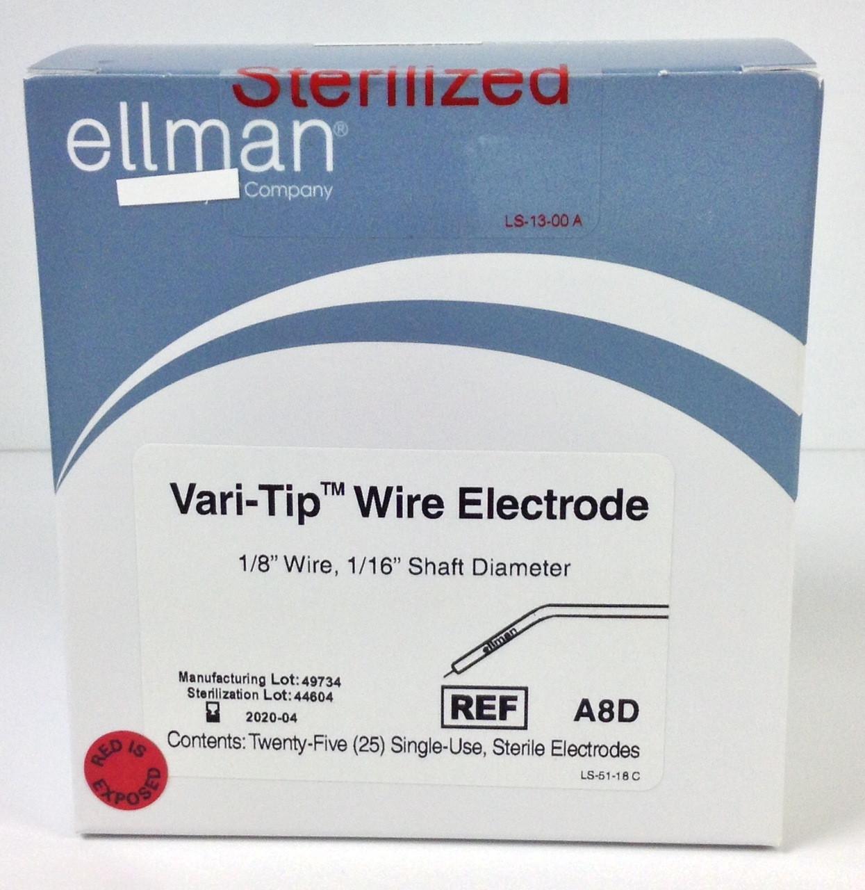 A8D - Vari-Tip Wire Electrode - 25pcs Sterile - Cynosure Australia