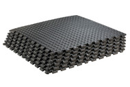 Sivan Health and Fitness Health and Fitness® Puzzle Exercise Mat High Quality EVA Foam Interlocking Tiles (Black)