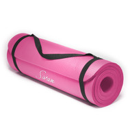 Sivan Health and Fitness 1/2-Inch Extra Thick 71-Inch Long NBR Comfort Foam Yoga Mat (Pink)