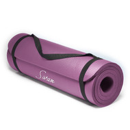 Sivan Health and Fitness 1/2-Inch Extra Thick 71-Inch Long NBR Comfort Foam Yoga Mat (Purple)