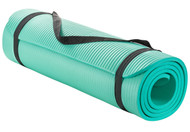 Sivan Health and Fitness 1/2-Inch Extra Thick 71-Inch Long NBR Comfort Foam Yoga Mat (Teal)