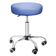 Sivan Health and Fitness Adjustable Rolling Stool For Massage Tables, Doctor's Clinics and Examination Tables (Blue)