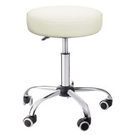 Sivan Health and Fitness Adjustable Rolling Stool For Massage Tables, Doctor's Clinics and Examination Tables (White)
