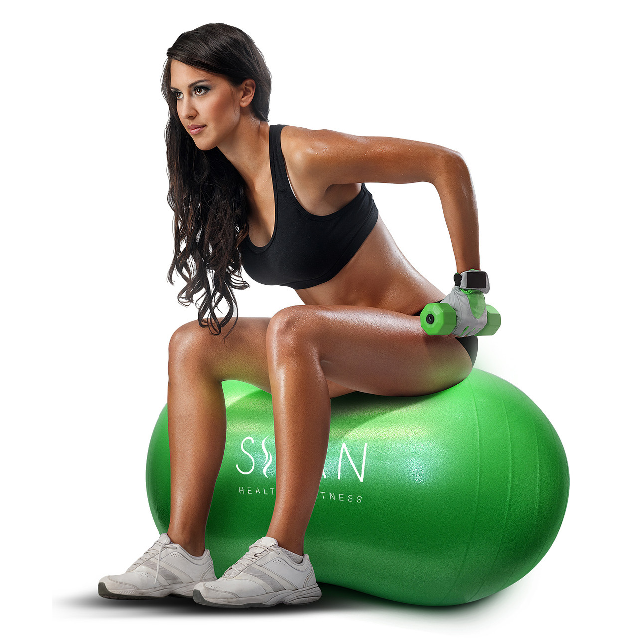 Sivan Health And Fitness Peanut Ball Gym Equipment 45cm X