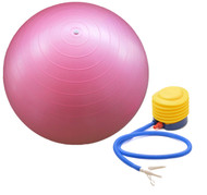 Sivan Health and Fitness Burst Resistant Yoga Exercise Fitness Pilates Stability Ball with Pump 75cm Pink
