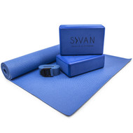 Sivan Health and Fitness Health & Fitness 5- Piece Essentials Yoga Beginners Kit (Blue)