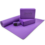 Sivan Health and Fitness Health & Fitness 5- Piece Essentials Yoga Beginners Kit (Purple)