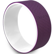 Sivan Health and Fitness Yoga Wheel - Premium TPE Mat Material 12.6 Diameter (Purple)