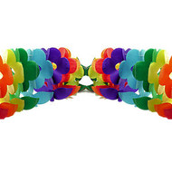 12' Foot Rainbow Gay Pride Flag (Flower) Party Garland Banner - LGBT Gay and Lesbian Pride Party Supplies