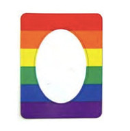 Gay Flag Magnetic Photo Frame - LGBT Lesbian and Gay Pride Decal Merchandise