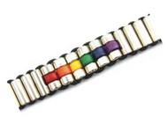 Upscale Rainbow Steel Beaded Bracelet - LGBT Gay and Lesbian Pride Jewelry