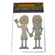 Lesbian Couple Holding Hands Family Pride Car Window Sticker / Lesbian Pride Vehicle Decals - Rainbow Pride