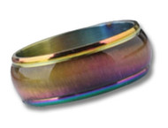 Anodized Rainbow Beveled Ring - Gay and Lesbian LGBT Pride Jewelry
