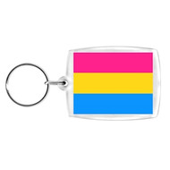 Pansexual / Pan Pride - Clip on Cell Phone Charm or Keychain (Pan Sexual Flag)