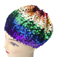 Sequined Rainbow Beanie Hat - LGBT Gay and Lesbian Pride Cap. Gay and Lesbian Pride Clothing & Apparel
