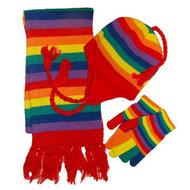 Gay Pride Winter Set (Rainbow, Hat Gloves & Scarf) - LGBT Gay and Lesbian Pride Apparel