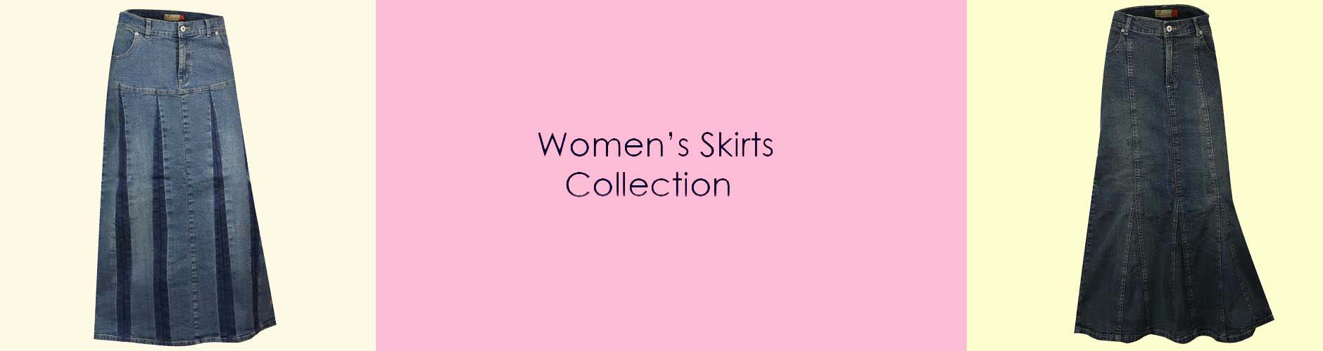 denim skirts for women