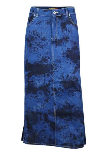 Full length elasticated waist denim skirt uk