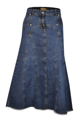 Plus Size Blue Denim Long Maxi Skirts Online Uk.