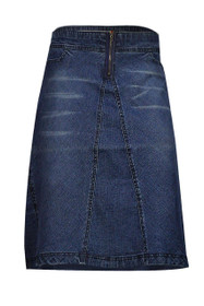 Denim Knee Length A Line Plus Size Skirts