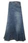 A Line Vertical panelling Blue Denim Jeans Full length Long Plus Size