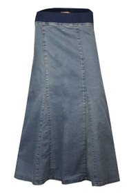 Clove Women Soft Wash Stretch Denim Ankle Length Maternity Skirt Size 8-24