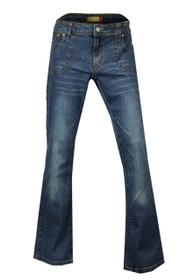 Clove Blue Stonewash Culture Boot Cut Low Rise Jeans Plus Size 14 - 24