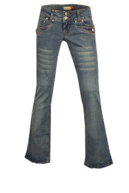 Clove Womens Plus Size Low Rise Slim Boot Cut Denim Jeans