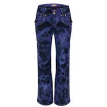 Clove Low Rise Sliming Boot Cut, Black Purple Tie Dye Womens Jeans, sizes 10 to 24