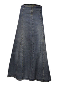 Buy plus size stretch denim ankle length maxi skirts from jeans oasis. This long skirts designed by London designer Clove.