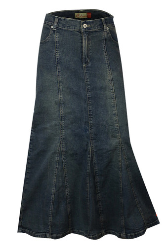Buy Womens full length denim skirts UK.