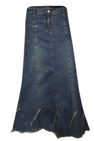 Womens easy-stretch elastic waist denim skirts shopping online.