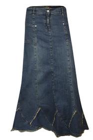 Womens easy-stretch elastic waist denim skirts shopping online.