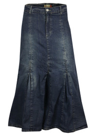 Shop womens full length denim skirt ladies maxi long skirt from the house of clove UK.