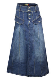 Shop the latest full denim skirts on jeans oasis.