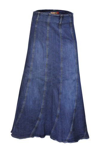 Womens Plus Size Denim Jeans Skirt from Clove