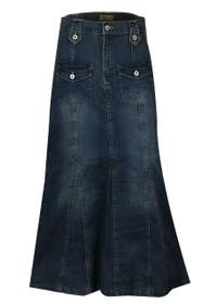 Blue Denim Jeans Skirt Plus Size UK