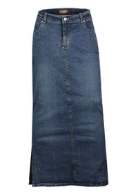 long length denim plus size pencil maxi skirts