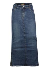 long length denim plus size pencil maxi skirts