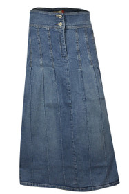 Long length Pleated Denim Skirt from Clove.
