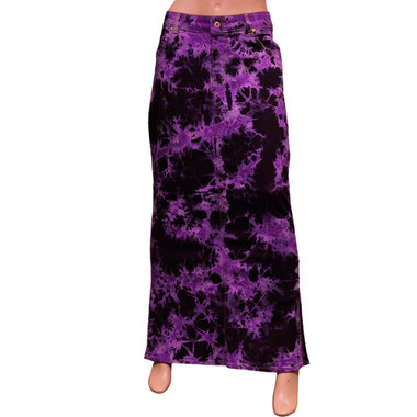 Women Full Length Denim Elastic Skirts Online UK