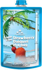 All-Natural Sugar-Free Strawberry Daiquiri in a Bag