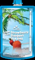 All-Natural Sugar-Free Strawberry Daiquiri in a Bag